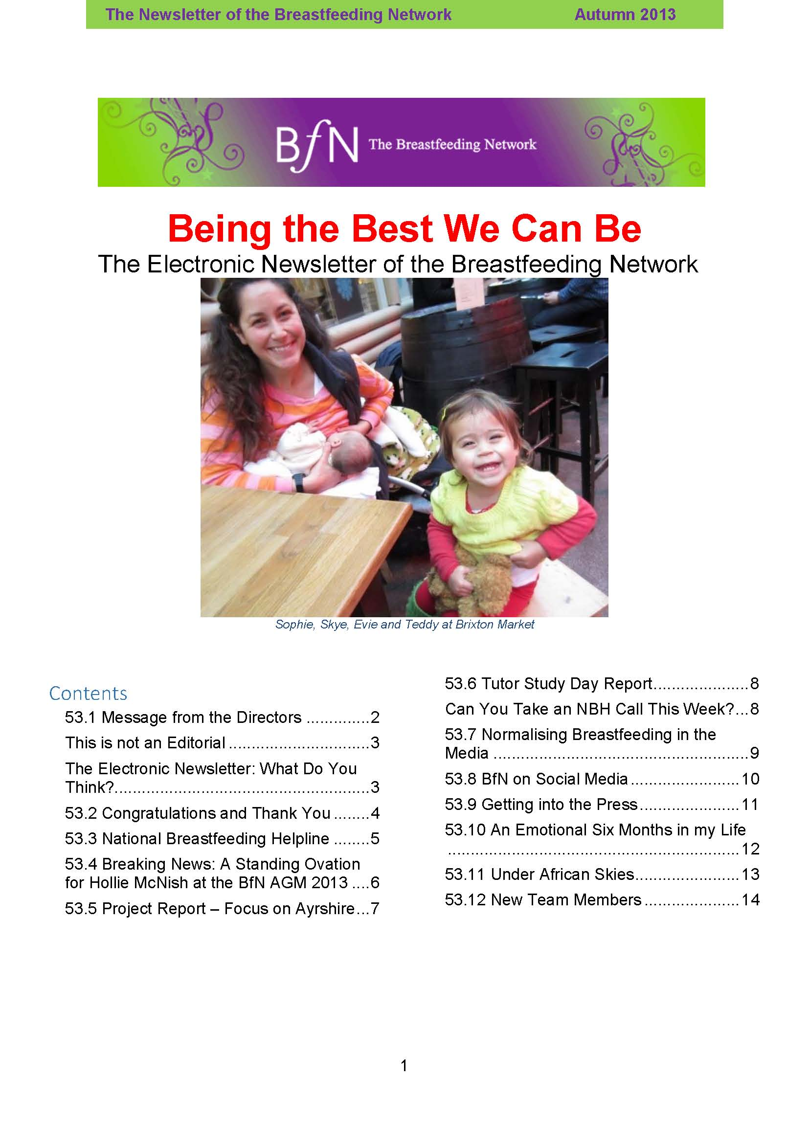 BfN Newsletter 53 Autumn 2013
