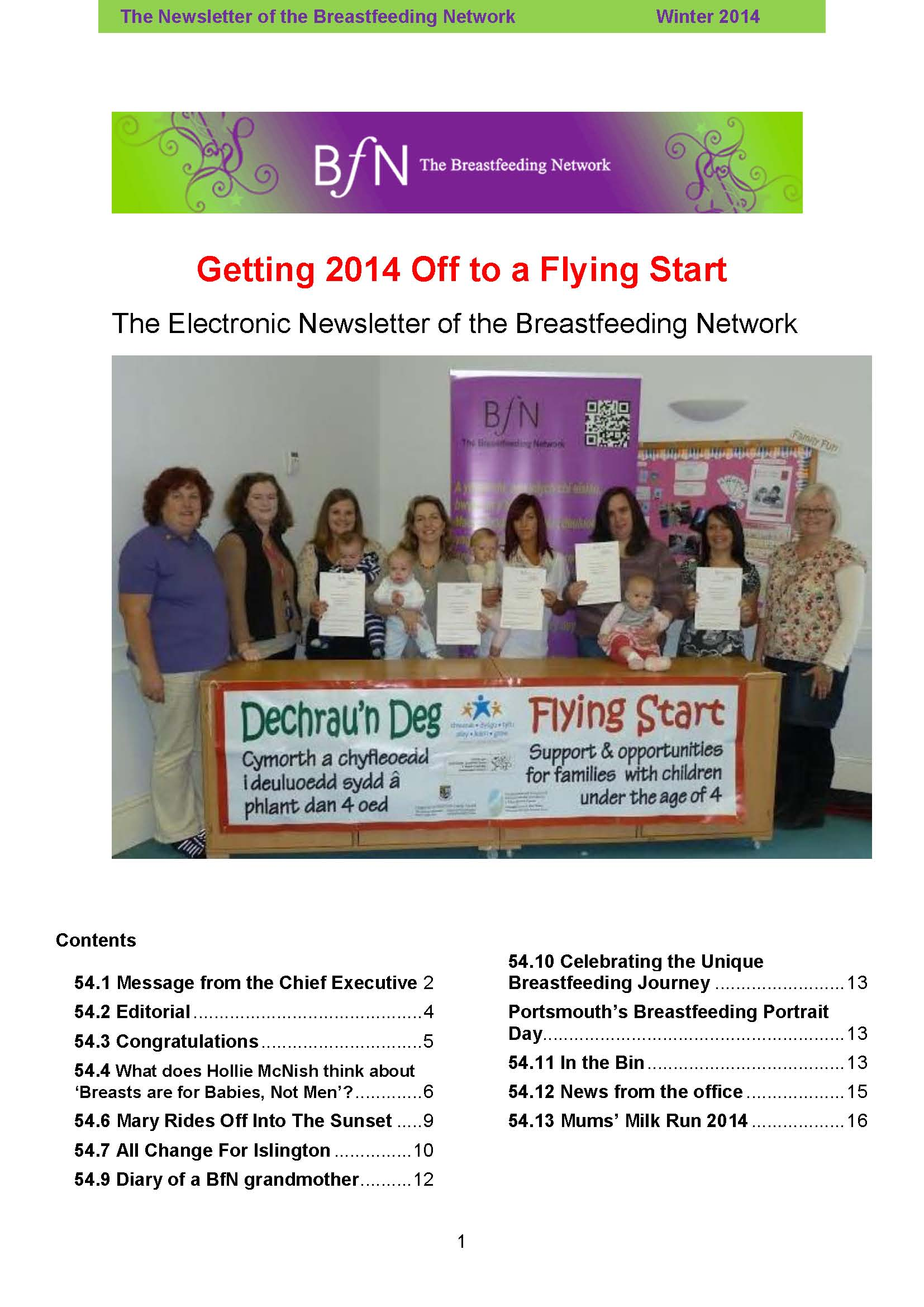 BfN Newsletter 54 Winter 2014
