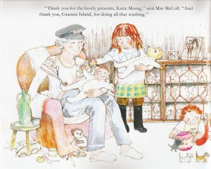 Image of breastfeeding in Katie Morag
